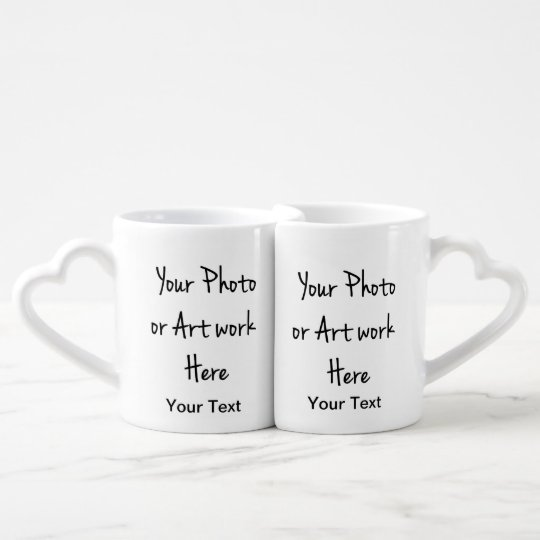 Add Your Own Art Photo Text Coffee Mug Set