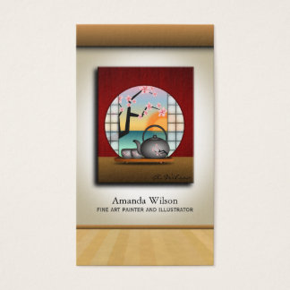 Add Your Own Artwork Fine Art Artist Painter Business Card
