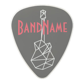 add your own band name, black polycarbonate guitar pick