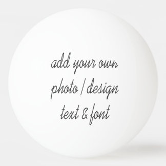 Add your own design ping pong ball