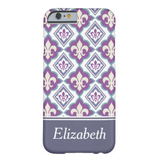 Add Your Own Name Fleur de Lis Pattern Barely There iPhone 6 Case
