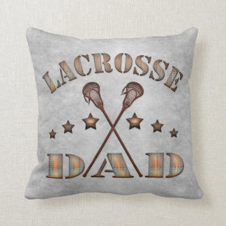 Add Your Own Name & Number Pillow, Lacrosse Dad Throw Pillow