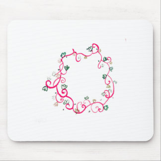 Add Your Own Name or Message Floral Pink Design Mouse Pad