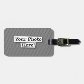 Add Your Own Pattern & Photo Luggage Tag