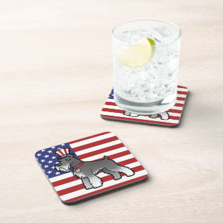 Add Your Own Pet and Flag Beverage Coaster