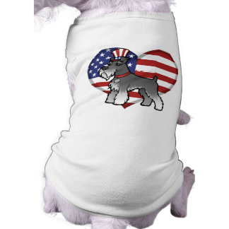 Add Your Own Pet and Flag Doggie Tee Shirt