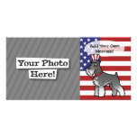 Add Your Own Pet and Flag Photo Card Template
