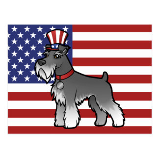 Add Your Own Pet and Flag Postcard
