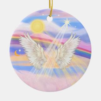 Add your own pet - Rainbow Bridge Ceramic Ornament