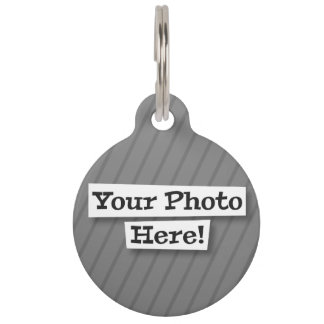 Add Your Own Photo Pet Name Tag