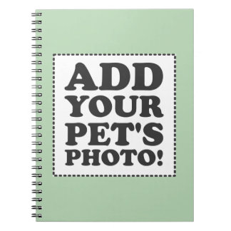 """Add Your Own Photo"" Spiral Notebook"