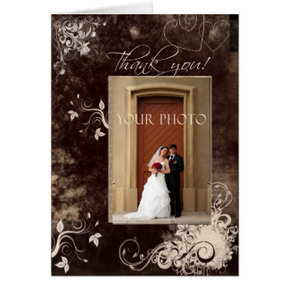Add your own photo wedding design template card