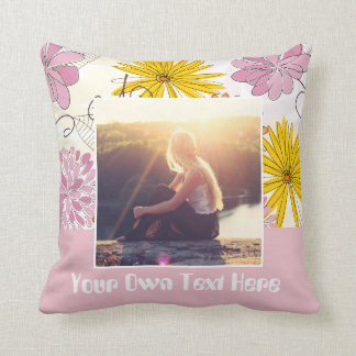 Add your own picture and text throw pillow