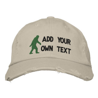 Add your own text, Bigfoot logo Baseball Cap
