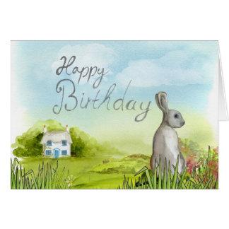 Add Your Own Text: Birthday Rabbit Card