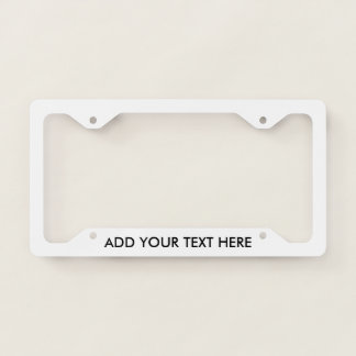 Add Your Own Text Custom Licence Plate Frame
