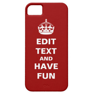 Add your own text here iPhone 5 cases