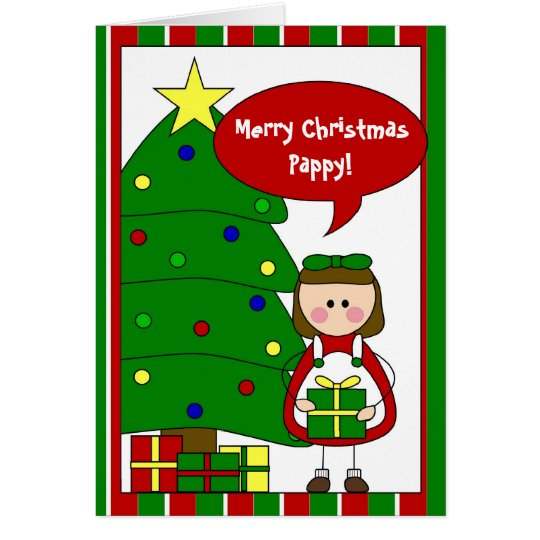 add your own text holiday card (girl)