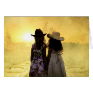 Add Your Own Text: Little Cowgirls Card