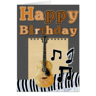 Add Your Own Text: Musical Birthday Card