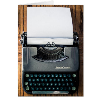 Add Your Own Text to the Typewriter Paper! Card