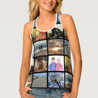 Add Your Personalized Photo Collage Print All Over Tank Top