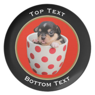 Add Your Photo and Text Custom Round Frame Plate