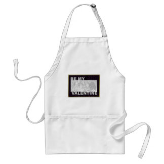 ADD Your Photo Be My Valentine Frame - Goth Hearts Standard Apron