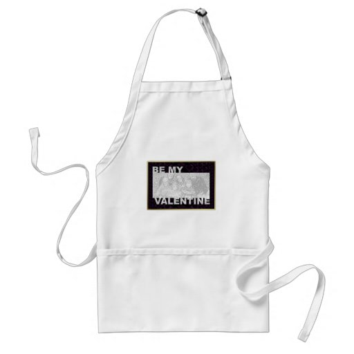 ADD Your Photo Be My Valentine Frame - Goth Hearts Aprons