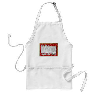 ADD Your Photo Be My Valentine Frame - Red Hearts Apron