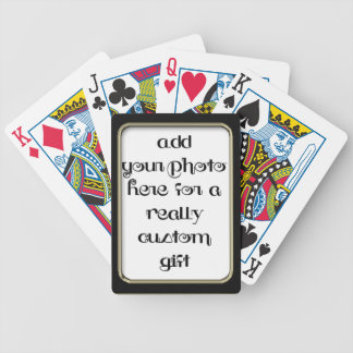 Add Your photo Black Frame Bicycle® Play Deck Of Cards