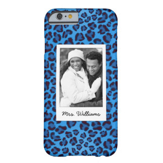 Add Your Photo | Blue Leopard Texture Barely There iPhone 6 Case