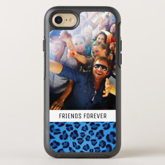Add Your Photo | Blue Leopard Texture OtterBox Symmetry iPhone 8/7 Case