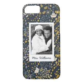 Add Your Photo | Cute Unicorn Sailboat Pattern iPhone 8/7 Case