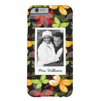 Add Your Photo | Dark Autumn Pattern Barely There iPhone 6 Case