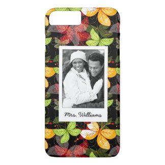 Add Your Photo | Dark Autumn Pattern iPhone 8 Plus/7 Plus Case