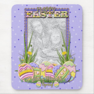 ADD YOUR PHOTO - Easter Egg Cookies Mouse Pad