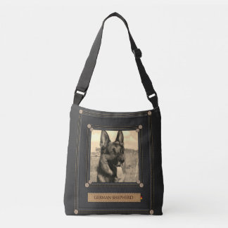 Add your photo - German Shepherd Dog - GSD Crossbody Bag