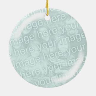 Add Your Photo Glass Looking Ornament
