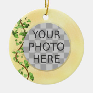 """Add Your Photo"" Italian Wall with Ivy Ceramic Ornament"