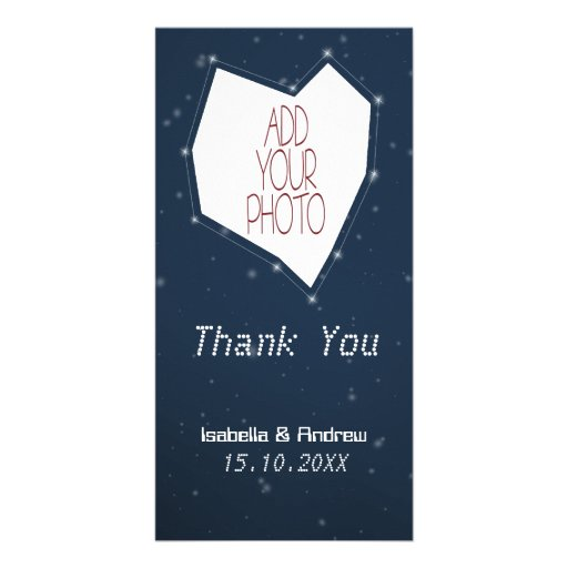 Add Your Photo Love Constellation Thank You Photo Greeting Card