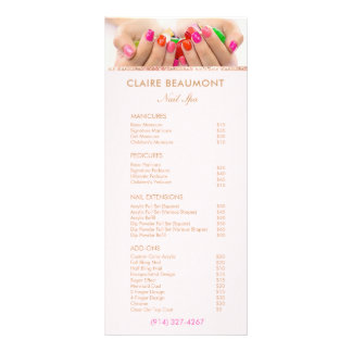 Add Your Photo Nail Salon Price List Service Menu