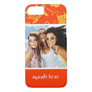 Add Your Photo | Orange Beach Pattern iPhone 8/7 Case