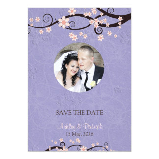 Add Your Photo Prisoners of Love Violet Wedding Card