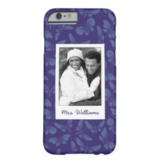 Add Your Photo | Purple Butterflies Barely There iPhone 6 Case