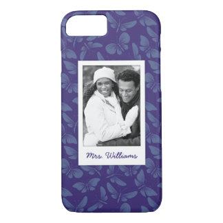 Add Your Photo | Purple Butterflies iPhone 8/7 Case