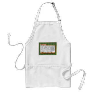 ADD YOUR PHOTO St Pats Cut Out Frame - Kiss Me Standard Apron