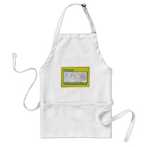 ADD YOUR PHOTO St Pats Cut Out Frame - Yellow Apron