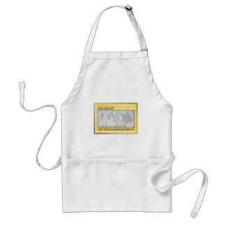 ADD YOUR PHOTO St Pats Cut Out Frame Yellow Clover Standard Apron