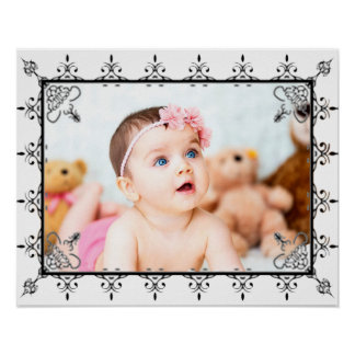 Add Your Photo to this Large Baby Photo Poster